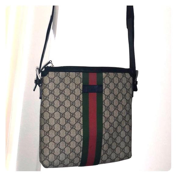 aca42f9ba3b1 Gucci Bags | Web Gg Supreme Messenger Bag | Poshmark